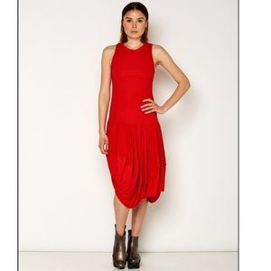 Lurdes Bergada Beautiful Red Sleeveless Dress